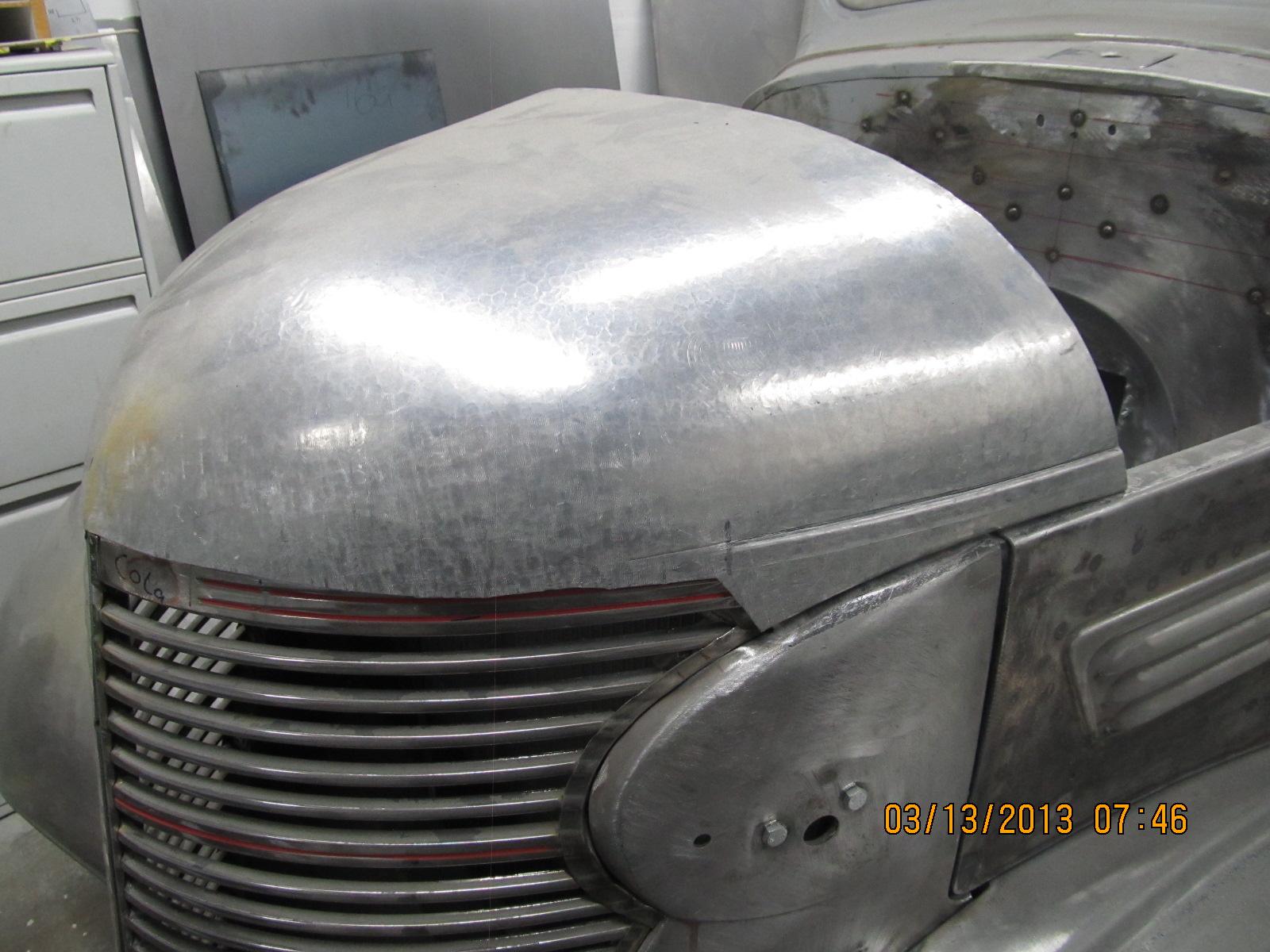 Custom Auto Restoration Hood Fabrication 1938 Chevrolet